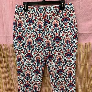 """The Riviera"" Cropped Pasley Pants Ann Taylor Sz 6"